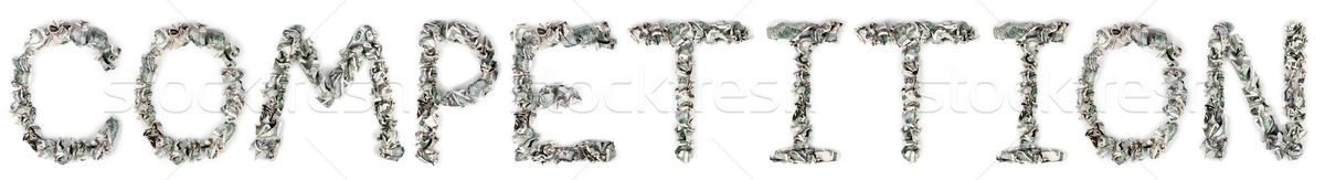 Competition - Crimped 100$ Bills Stock photo © eldadcarin