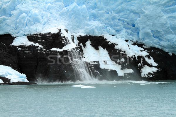 Ghiacciaio ghiaccio cadere sud america acqua Foto d'archivio © eldadcarin
