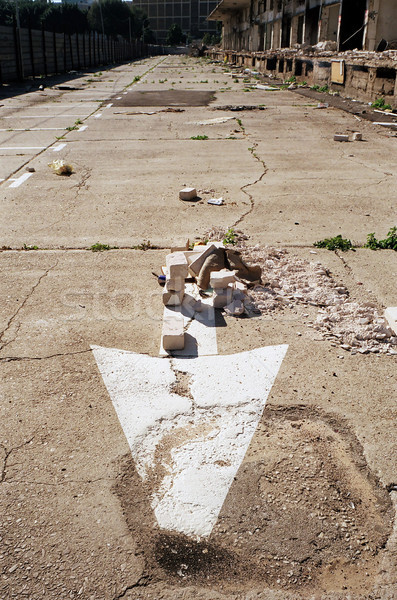 Street Arrow & Abandoned Market Stock photo © eldadcarin