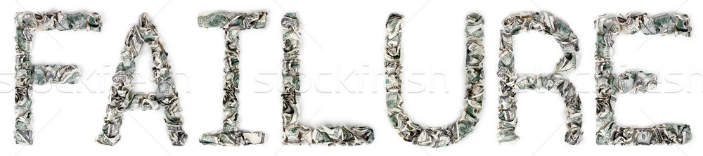 Mislukking 100 woord uit geïsoleerd Stockfoto © eldadcarin