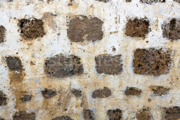 Starożytnych mur pokryty co używany Zdjęcia stock © eldadcarin