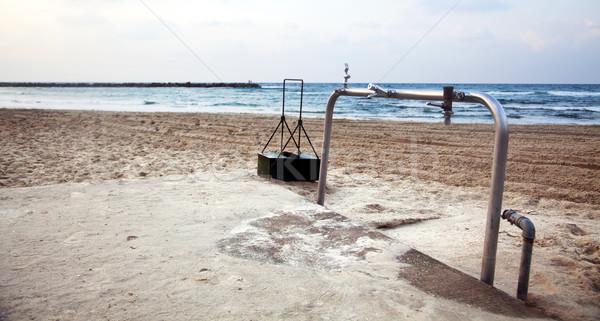 Wassen station strand verlaten winter dag Stockfoto © eldadcarin