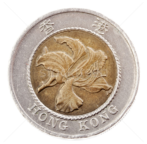 Isolated 10 Hong Kong Dollars - Heads Frontal Stock photo © eldadcarin