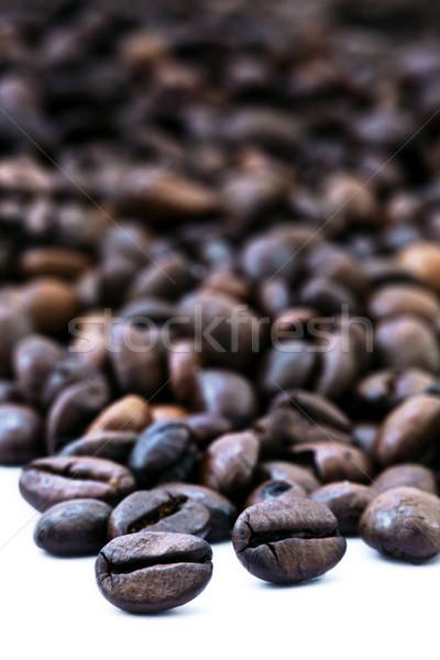 コーヒー豆 クラスタ 新鮮な 孤立した 白 ストックフォト © eldadcarin
