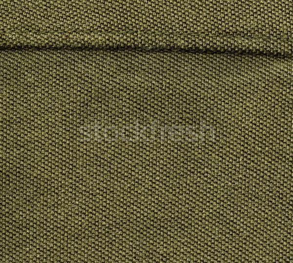 Katoen weefsel textuur olijfolie groene hoog Stockfoto © eldadcarin