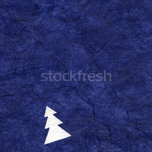 Ryżu tekstury papieru christmas niebieski wysoki Zdjęcia stock © eldadcarin