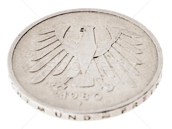 Odizolowany widoku strona ocena monety Zdjęcia stock © eldadcarin