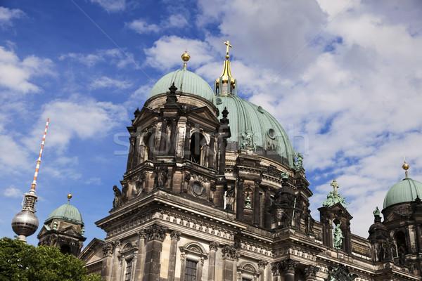 テレビ塔 有名な 大聖堂 ベルリン ドイツ 世界 ストックフォト © eldadcarin