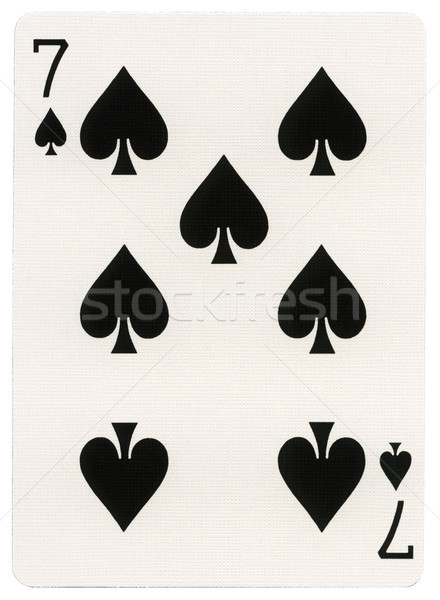 Playing Card - Seven of Spades Stock photo © eldadcarin