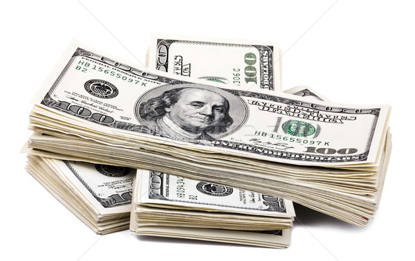 Isolated 100 US$ Bills Stack Stock photo © eldadcarin