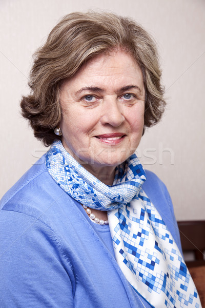 Senior Smiling Woman Portrait Stock photo © eldadcarin