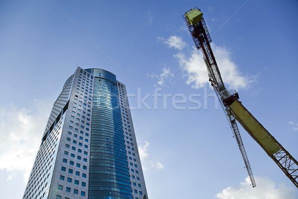 Skyscraper & Crane Stock photo © eldadcarin