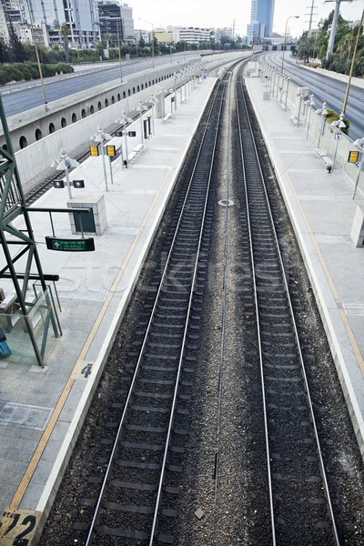 Nem forgalom üres vasút kifejezéstelen autópálya Stock fotó © eldadcarin