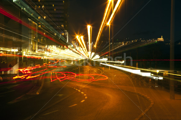 Zoom Smeared Urban Lights Stock photo © eldadcarin
