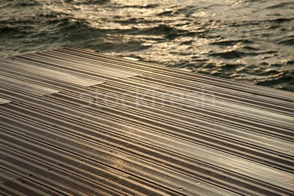Molhado convés mar ondas inverno Foto stock © eldadcarin