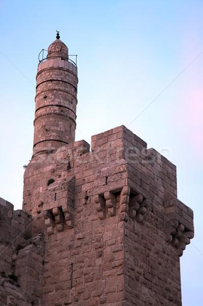 Torre antica cittadella cancello ingresso Foto d'archivio © eldadcarin