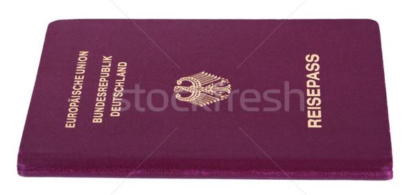 Izolált útlevél fehér papír sas nyomtatott Stock fotó © eldadcarin