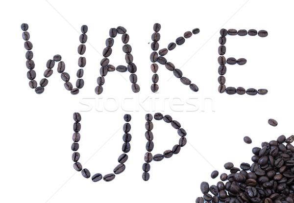 Wake Up - Coffee Beans Stock photo © eldadcarin