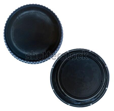Isolated Black Plastic Cap Stock photo © eldadcarin