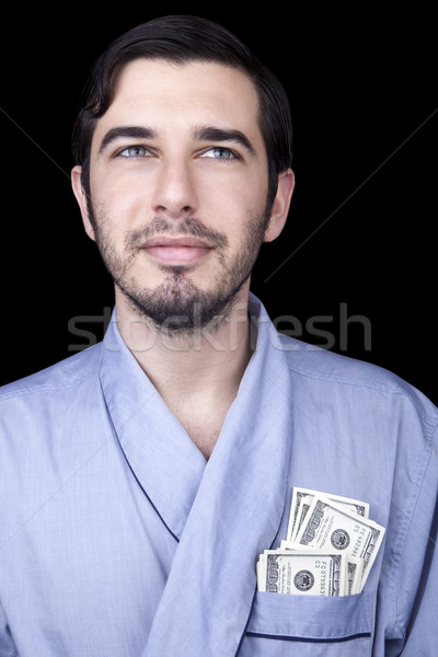 Rijke bum volwassen man 30 jaar Stockfoto © eldadcarin