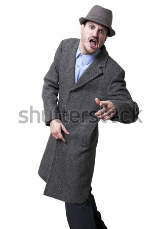 Shouting Mobster Stock photo © eldadcarin