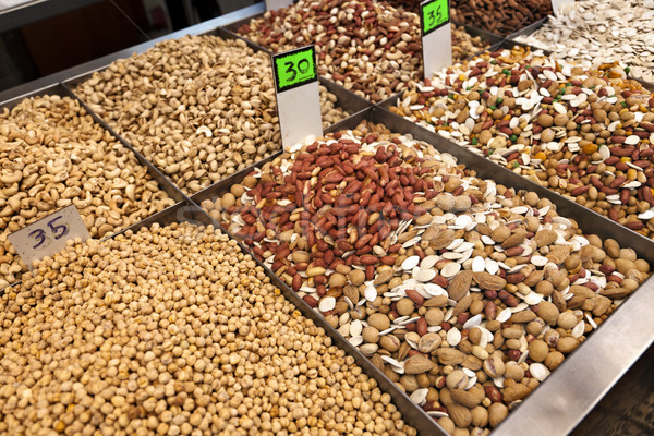 Pulses & Nuts for Sale Stock photo © eldadcarin