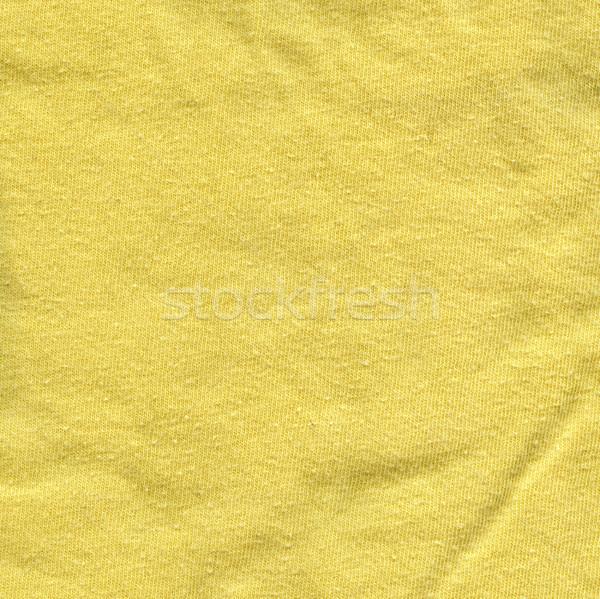 хлопка ткань текстуры ярко желтый высокий Сток-фото © eldadcarin