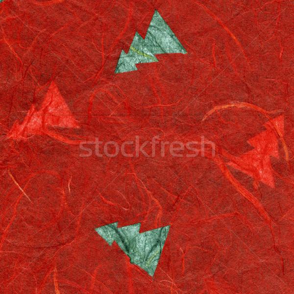 Rice Paper Texture - Christmas Red XXXXL Stock photo © eldadcarin