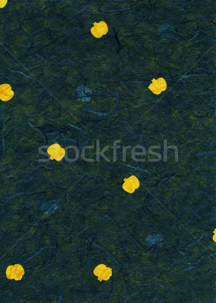Rice Paper Texture - Yellow Fruit Green XXXXL Stock photo © eldadcarin