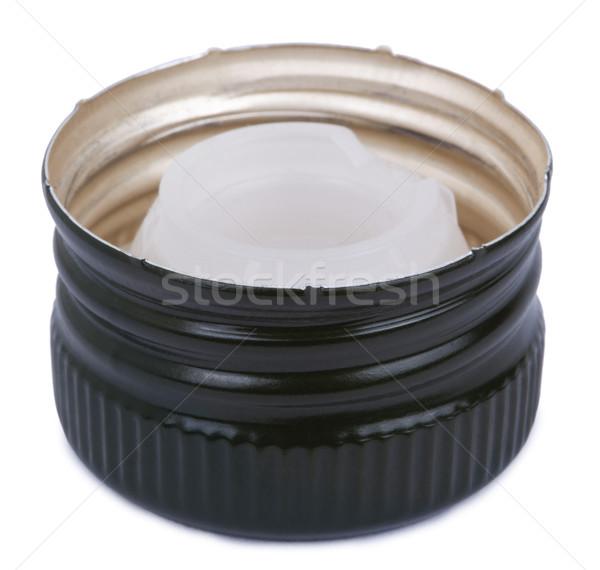 Isolated Green Metal Bottle Cap Stock photo © eldadcarin