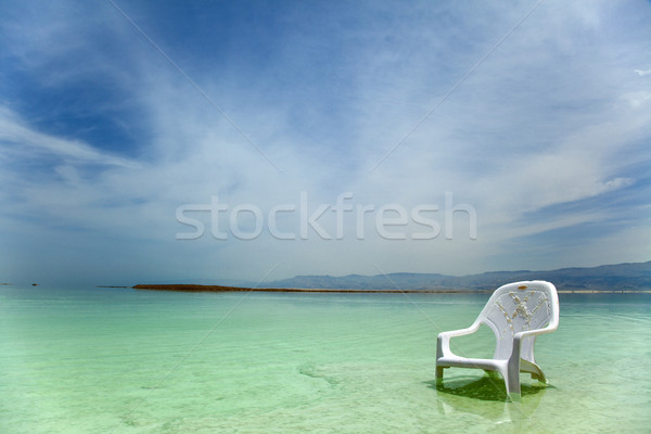 Easy Chair at the Dead Sea Stock photo © eldadcarin