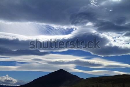 Cloudscape & Mountain Peak Stock photo © eldadcarin