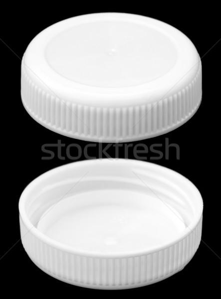 Stok fotoğraf: Yalıtılmış · beyaz · plastik · şişe · kapak · iki