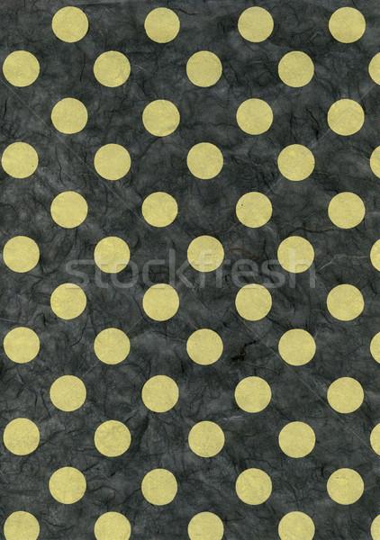 Rice Paper Texture - Green Polka Dots Stock photo © eldadcarin