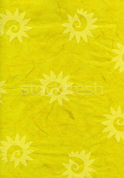 Rice Paper Texture - Decorated Yellow Stock photo © eldadcarin