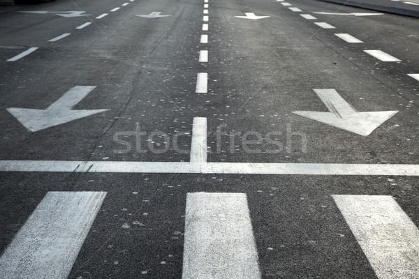 Stockfoto: Vacant · hoofdstraat · lege · vroeg · ochtend · weg