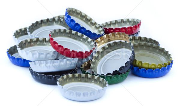 Odizolowany metal butelki biały niebieski Zdjęcia stock © eldadcarin