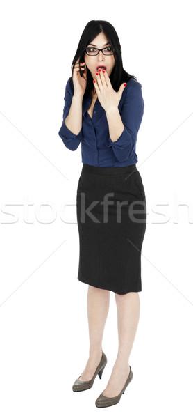 Business Woman Shocked on the Phone Stock photo © eldadcarin