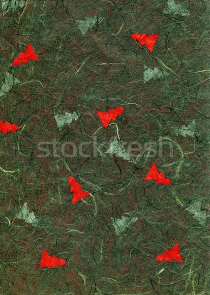 Ryżu tekstury papieru christmas zielone wysoki Zdjęcia stock © eldadcarin