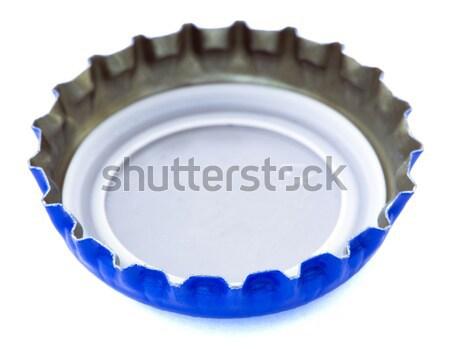 Сток-фото: изолированный · белый · металл · Cap · используемый