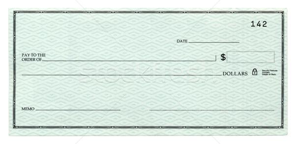 Cheque bancaire geïsoleerd witte papier financieren Stockfoto © eldadcarin