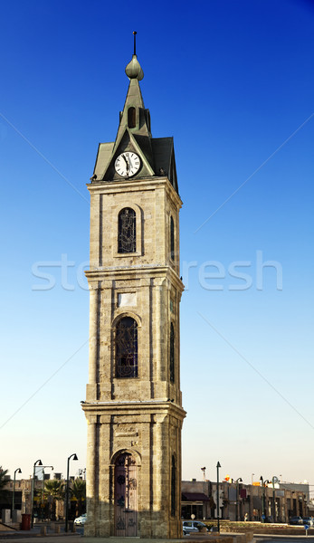 Old Jaffa Clock Tower Stock photo © eldadcarin
