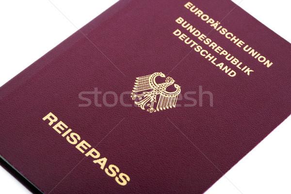 Izolált útlevél makró lövés fehér papír Stock fotó © eldadcarin