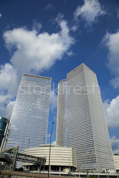 Icónico rascacielos tres rascacielos uno lugar Foto stock © eldadcarin