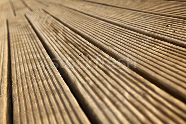 Diminishing Wooden Deck Stock photo © eldadcarin