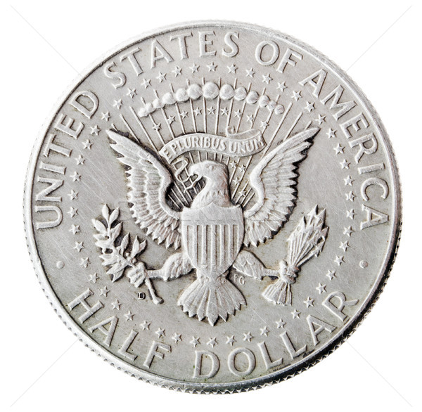 Silver Kennedy Half Dollar - Tails Frontal Stock photo © eldadcarin