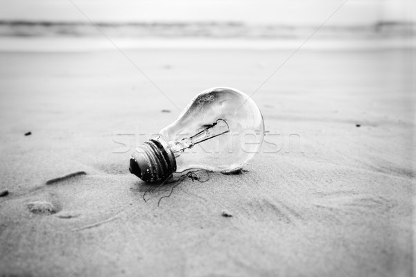 Spiaggia usato abbandonato spiaggia di sabbia Meteo Foto d'archivio © eldadcarin