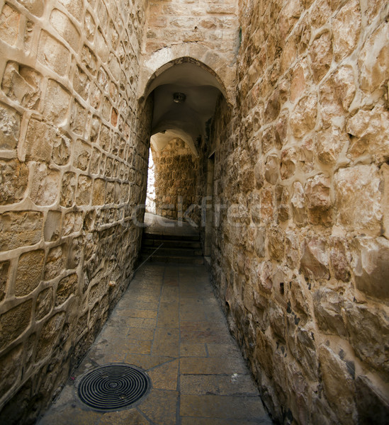Old Jerusalem Alley Stock photo © eldadcarin