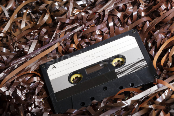 Blank Recordable Audio Cassette on Magnetic Tape Stock photo © eldadcarin