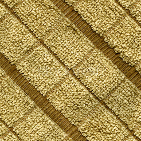 Towel Cloth Texture - Beige Double Striped Stock photo © eldadcarin